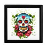 caja del cráneo y de regalo de los rosas cajas de joyas