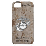 Caja del EGA de Digitaces Camo del desierto iPhone 5 Case-Mate Carcasa