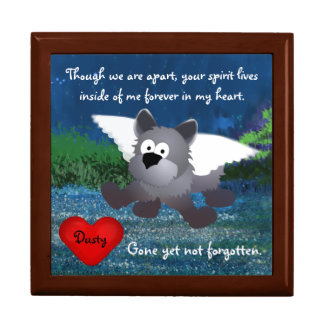 Caja del encargado del tesoro del perro del ángel cajas de recuerdo
