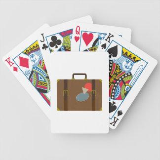 Caja del equipaje baraja cartas de poker