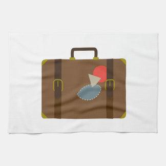 Caja del equipaje toallas