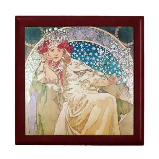 Caja del escondrijo de princesa Hyacinth Art Nouve Cajas De Recuerdo
