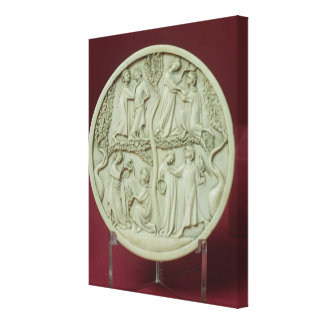 Caja del espejo que representa las escenas cortesa impresión en tela