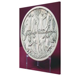 Caja del espejo que representa las escenas cortesa lona estirada galerias