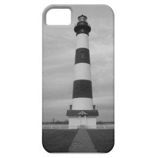 Caja del faro B/W IPhone 5 de la isla de Bodie iPhone 5 Fundas