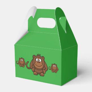 Caja del favor de fiesta del mono cajas para regalos