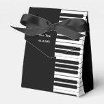 Caja del favor de fiesta del teclado de piano paquetes para detalles de bodas