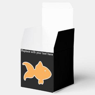 Caja del favor de fiesta del tema de los pescados cajas para detalles de boda