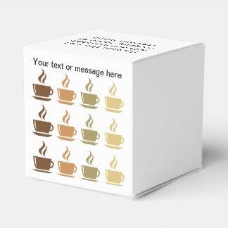 Caja del favor de fiesta del tema del café cajas para regalos