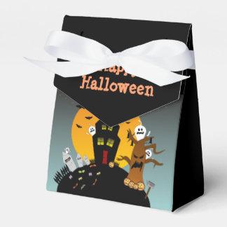Caja del favor de la casa encantada de Halloween Cajas Para Regalos