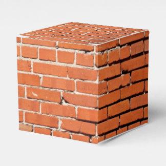Caja del favor de la construcción de ladrillos caja para regalos
