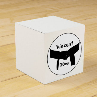 Caja del favor de la correa negra de los artes mar paquetes de regalo
