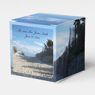 Caja del favor de la entrada de la playa cajas para regalos de fiestas