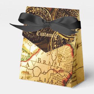 Caja del favor de la tienda del mapa del tesoro cajas para regalos de boda