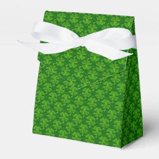 Caja del favor de la Trébol-Tienda de cuatro hojas Cajas Para Detalles De Boda