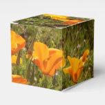 Caja del favor de las amapolas caja para regalos