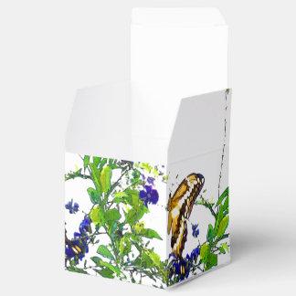 Caja del favor de las mariposas cajas para detalles de boda