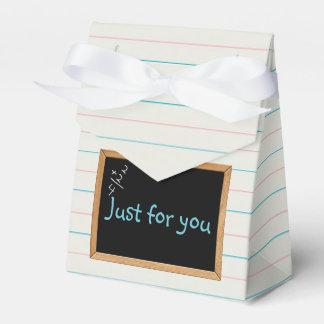 Caja del favor de los días escolares cajas para detalles de boda