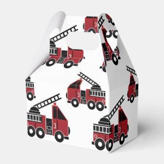 Caja del favor de los Firetrucks Cajas Para Regalos De Boda