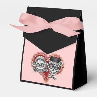 Caja del favor de los pares de los cráneos del caja para regalo de boda