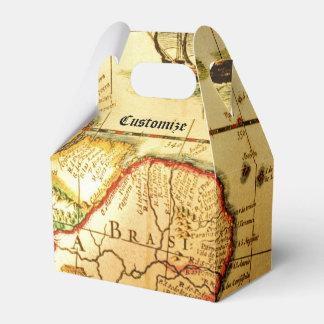 Caja del favor del aguilón del mapa del tesoro del cajas para regalos de boda