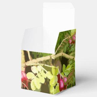 Caja del favor del arte de los escaramujos del cajas para regalos