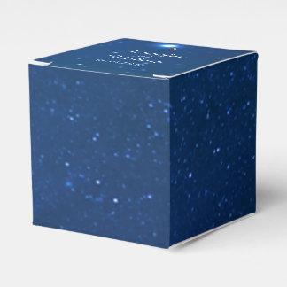 Caja del favor del boda de la noche estrellada cajas para regalos de boda