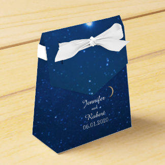 Caja del favor del boda de la noche estrellada caja para regalo de boda