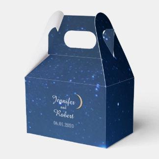 Caja del favor del boda de la noche estrellada cajas para detalles de boda