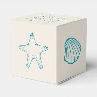 Caja del favor del boda de playa cajas para detalles de boda
