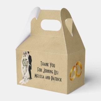 Caja del favor del boda del arte del vintage cajas para detalles de boda