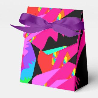 Caja del favor del chapoteo del flamenco cajas para detalles de boda