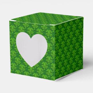 Caja del favor del corazón del Trébol-Cuadrado de Caja Para Regalos De Fiestas