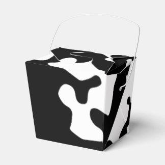 Caja del favor del Cowskin Caja Para Regalos De Fiestas