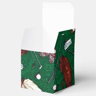Caja del favor del cubo del modelo del golf del caja para regalos de fiestas