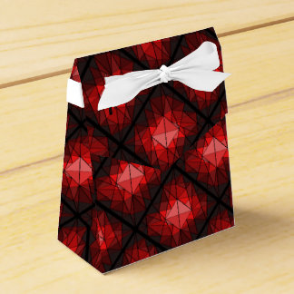 Caja del favor del diseño de la piedra preciosa caja para regalo de boda