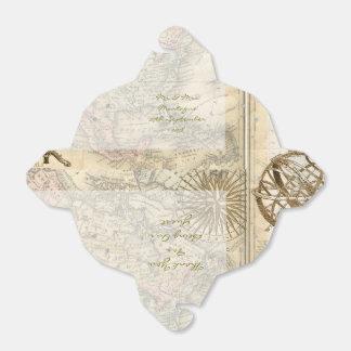 Caja del favor del mapa del vintage caja para regalos