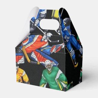 Caja del favor del modelo del hockey sobre hielo cajas para regalos