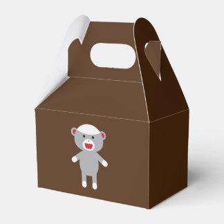Caja del favor del mono del calcetín caja para regalo de boda