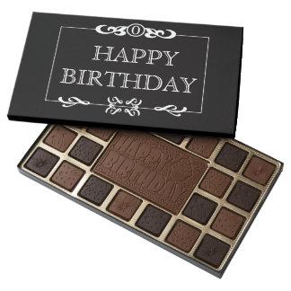 Caja del feliz cumpleaños de chocolates caja de bombones variados con 45 piezas