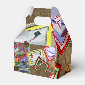 Caja del fiesta de las escenas de la playa caja para regalos de fiestas