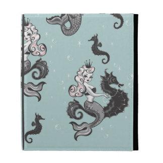 Caja del folio de Ipad de la sirena de Pearla por