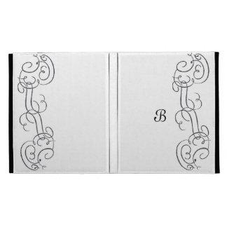 Caja del folio de la voluta del monograma