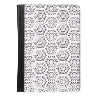 Caja del folio del aire del iPad de la flor