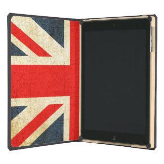 Caja del folio del aire del iPad de Union Jack del