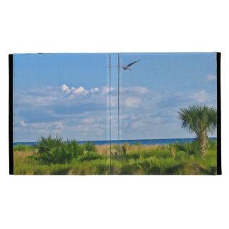 Caja del folio del iPad de Caseable de la playa de