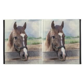 Caja del folio del iPad de Caseable del caballo de