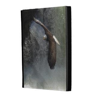 Caja del folio del iPad de Eagle calvo y del anima