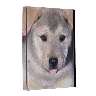 Caja del folio del iPad de la cara del perrito