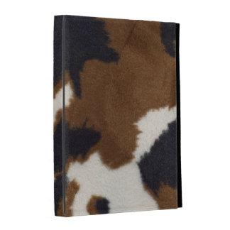 Caja del folio del iPad de la impresión de la piel